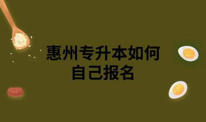 惠州专升本如何自己报名
