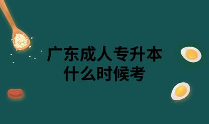 广东成人专升本什么时候考